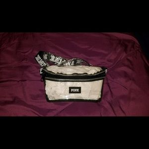 Pink clear never opened fanny pack